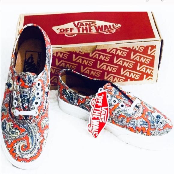 245eb76240f39c 6hrSALE🔥🆕Rare Vans Paisley Authentic Skate Shoe